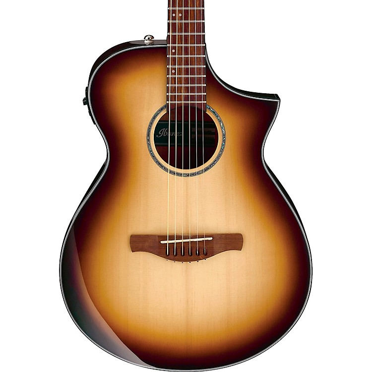 ibanez aewc300 comfort acoustic electric guitar brown sunburst music123. Black Bedroom Furniture Sets. Home Design Ideas