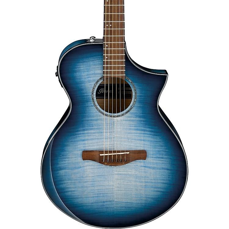 IbanezAEWC400 Comfort Acoustic-Electric GuitarBlue Sunburst