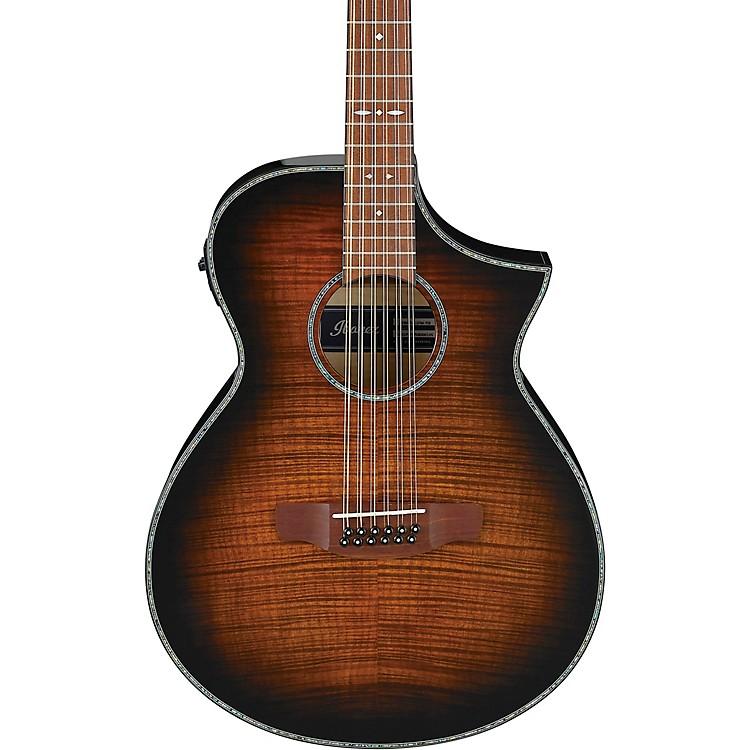 IbanezAEWC4012FM 12-String Acoustic-Electric GuitarTransparent Tiger Eye