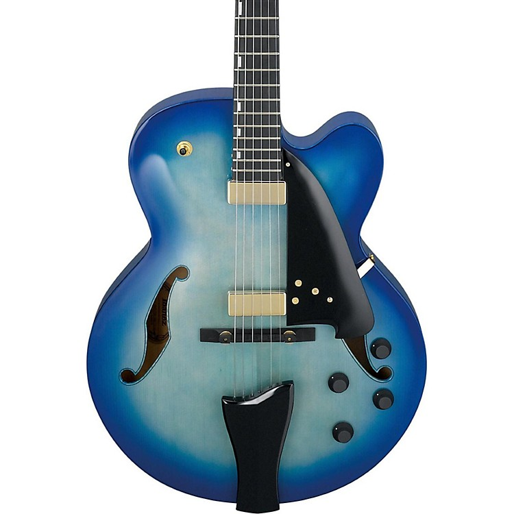 IbanezAFC Contemporary Archtop Electric GuitarJet Blue Burst