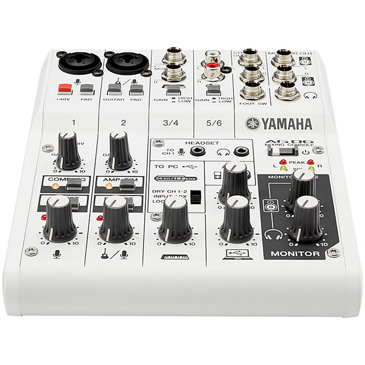YamahaAG06 6-Channel Mixer/USB Interface For IOS/MAC/PC