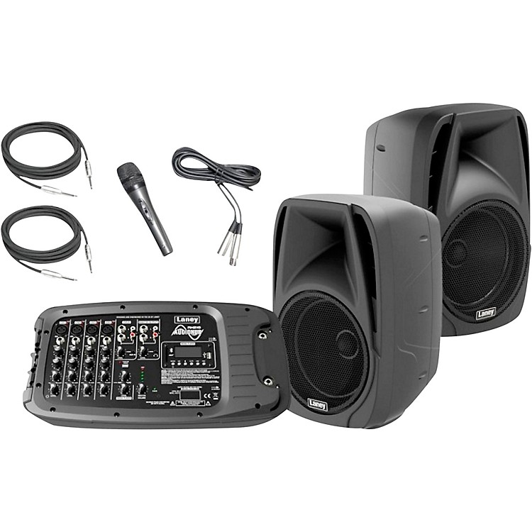 LaneyAH210 Audiohub Venue PA System with Two 10