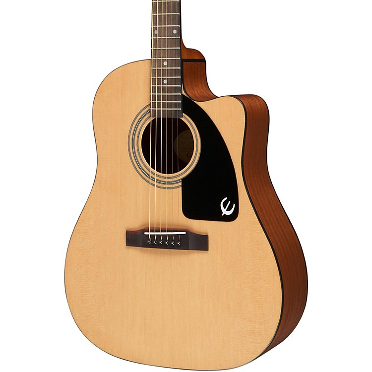 Epiphone AJ-100CE Acoustic-Electric Guitar Natural, Chrome Hardware 888365739212