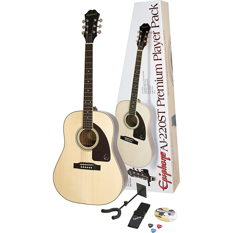 Epiphone AJ-220ST Solid Top Acoustic Guitar Pack Natural