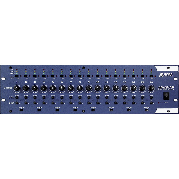 AviomAN-16/i-M 16-Channel Mic and Line Level Input ModuleAviom Blue
