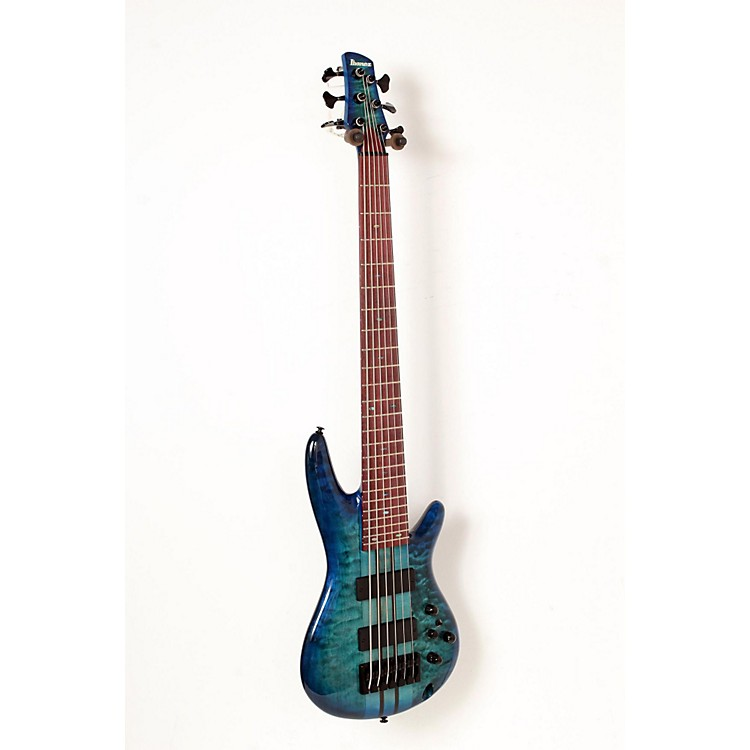 Ibanez ANB306E Adam Nitti Signature 6-String Electric Bass Guitar Blue Burst 888365846194