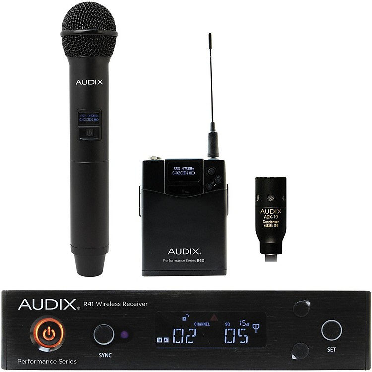Audix AP41 OM2 L10 Lavalier Wireless System 518-554 MHz