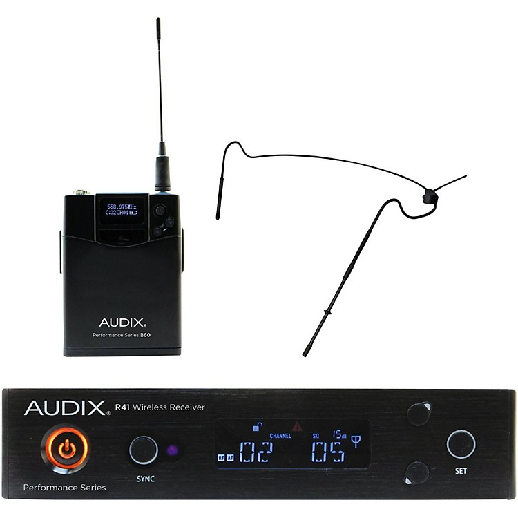 AudixAP41HT5 Headset Wireless system w/ HT5 Omni Condenser mic - Black518-554 MHzBlack