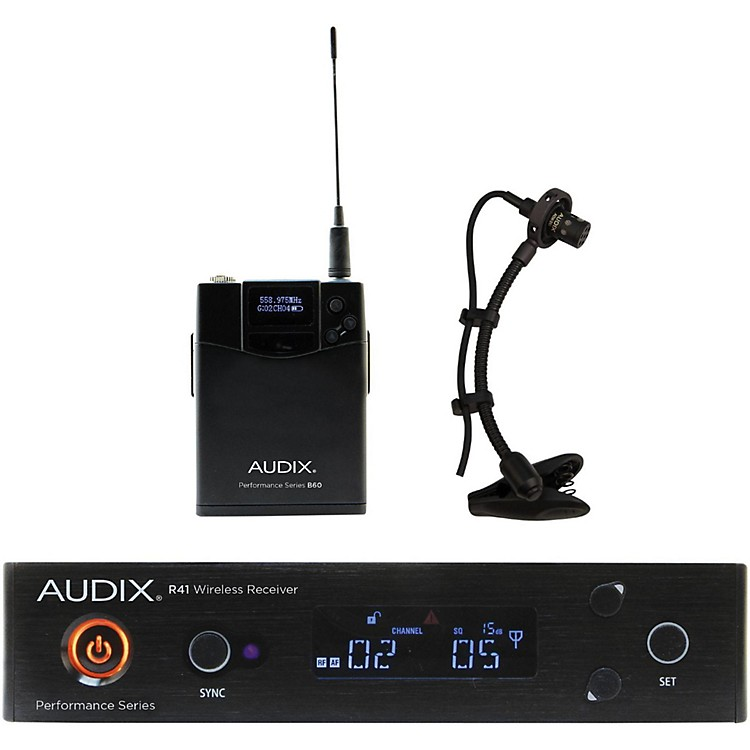 Audix AP41SAX Instrument Wireless System w/ ADX20i Clip-On Instrument Condenser mic 518-554 MHz