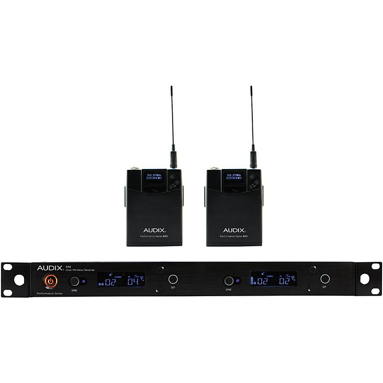 Audix AP42 BP Dual Bodypack Wireless System 554-586 MHz
