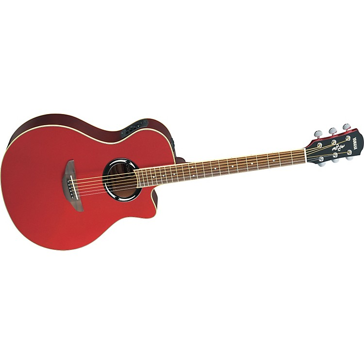Yamaha APX500II Thinline Cutaway Acoustic-Electric Guitar Red Metallic