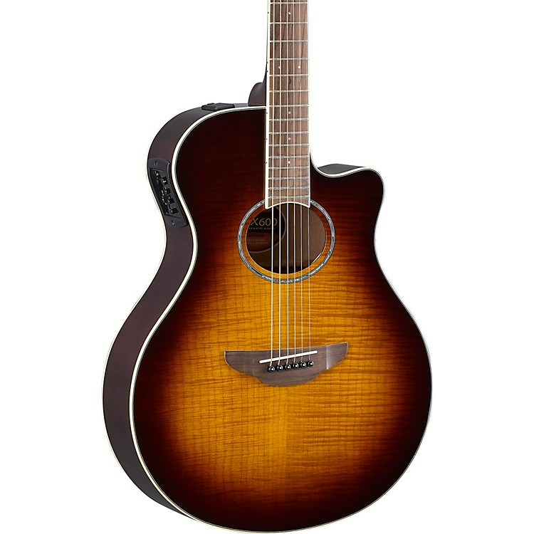 Yamaha APX600FM Acoustic/Electric Guitar Tobacco Brown Sunburst