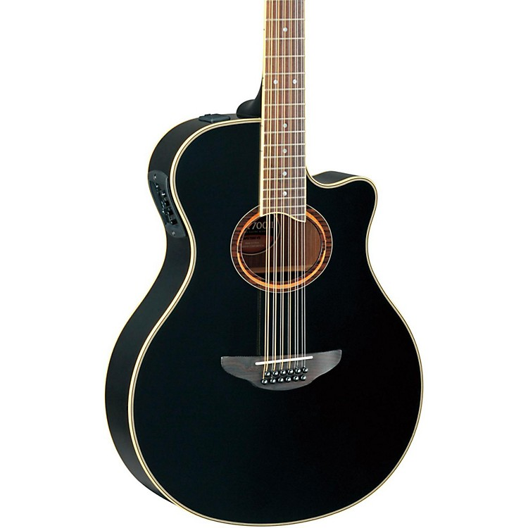 yamaha apx700ii 12 thinline 12 string cutaway acoustic electric guitar black music123. Black Bedroom Furniture Sets. Home Design Ideas