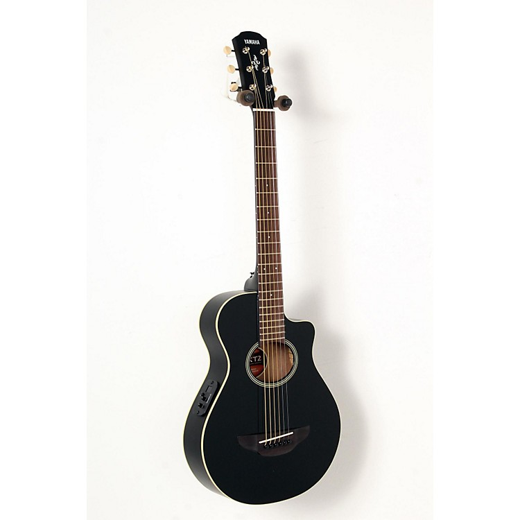 Yamaha APXT2 3/4 Thinline Acoustic-Electric Cutaway Guitar Black 888365843476