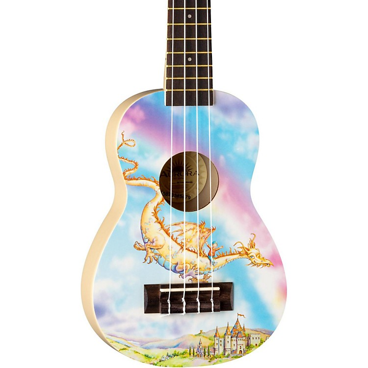 Luna Guitars AR2 Aurora Ukulele Dragon Graphic