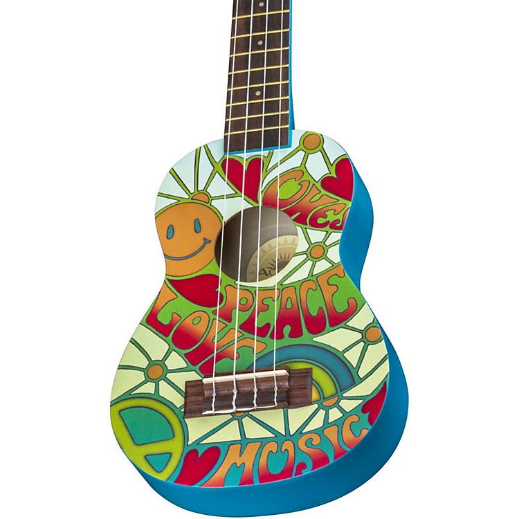 Luna Guitars AR2 Aurora Ukulele Peace Graphic