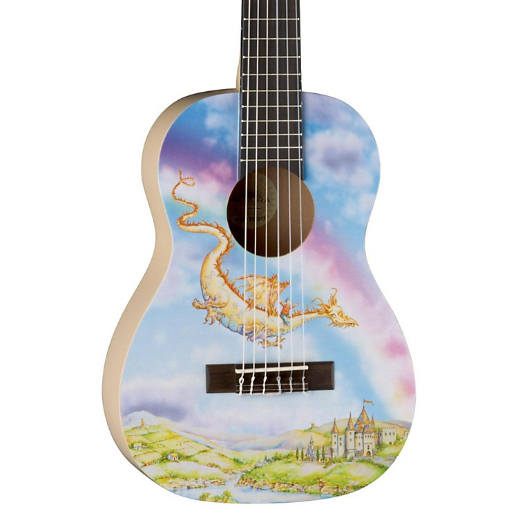 Luna Guitars AR2 NYL Auroura Dragon Guitar Dragon Graphic