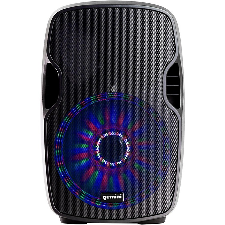 Gemini AS-08BLU-LT 8 in. Powered Speaker with LED Lights