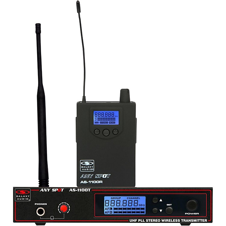 Galaxy AudioAS-1100 UHF Wireless Personal Monitor