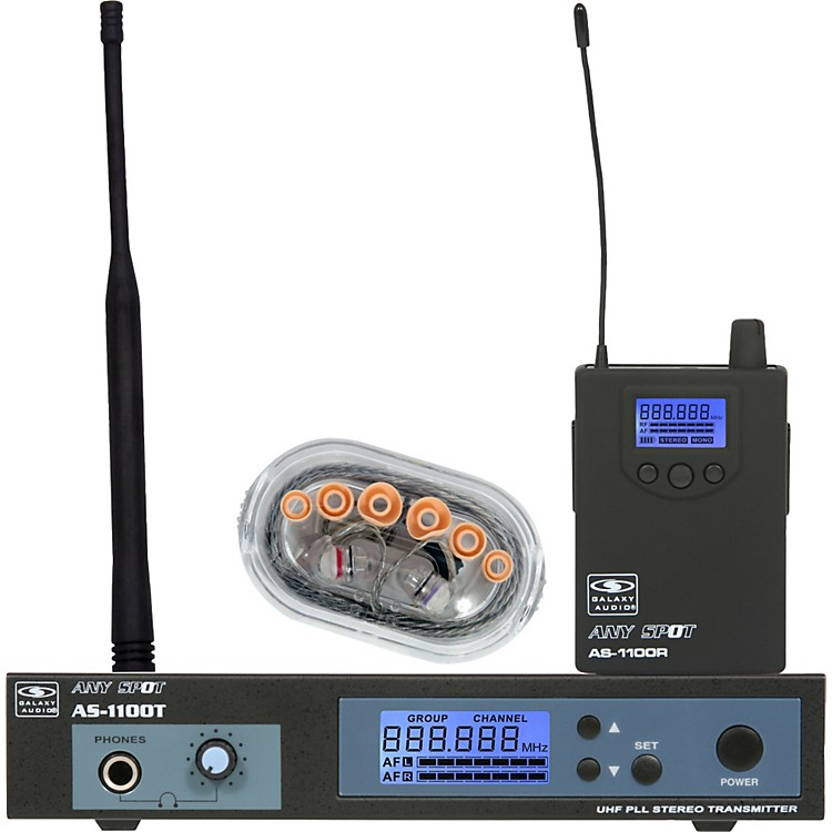 Galaxy Audio AS-1106 UHF Wireless Personal Monitor System With EB6