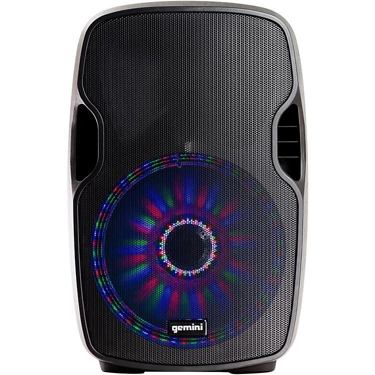 GeminiAS-12BLU-LT 12 in. Powered Bluetooth Speaker with LED Lights