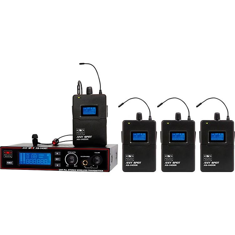 Galaxy AudioAS-1400 Band Pack Wireless Personal MonitorsBand MBlack