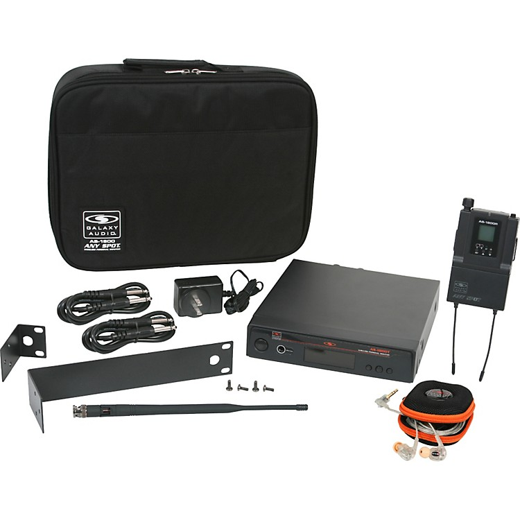 Galaxy AudioAS-1800 Any Spot Wireless Personal Monitor w/EB10 earbuds