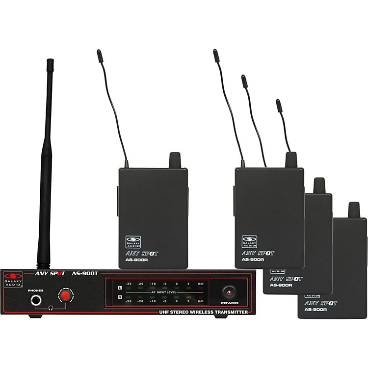 Galaxy Audio AS-900-4 Band Pack Wireless System N2