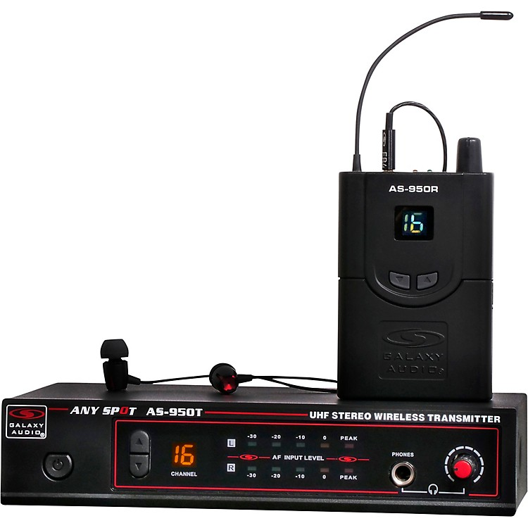 Galaxy AudioAS-950-4 Wireless In-Ear Monitor Band Pack (N Band)-518-542  MHz518-554 MHzBlack