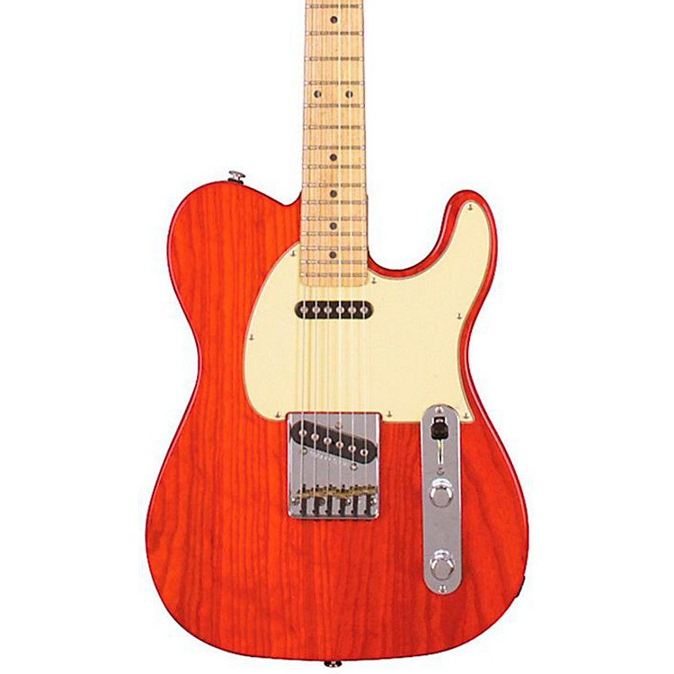 G&L ASAT Classic Electric Guitar Clear Orange Maple Fretboard