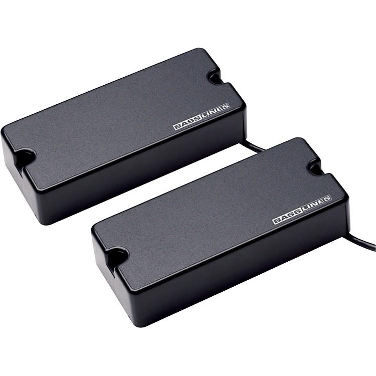 BasslinesASB-BO-5s Blackouts for 5-String Bass - Neck & Bridge SetBlack