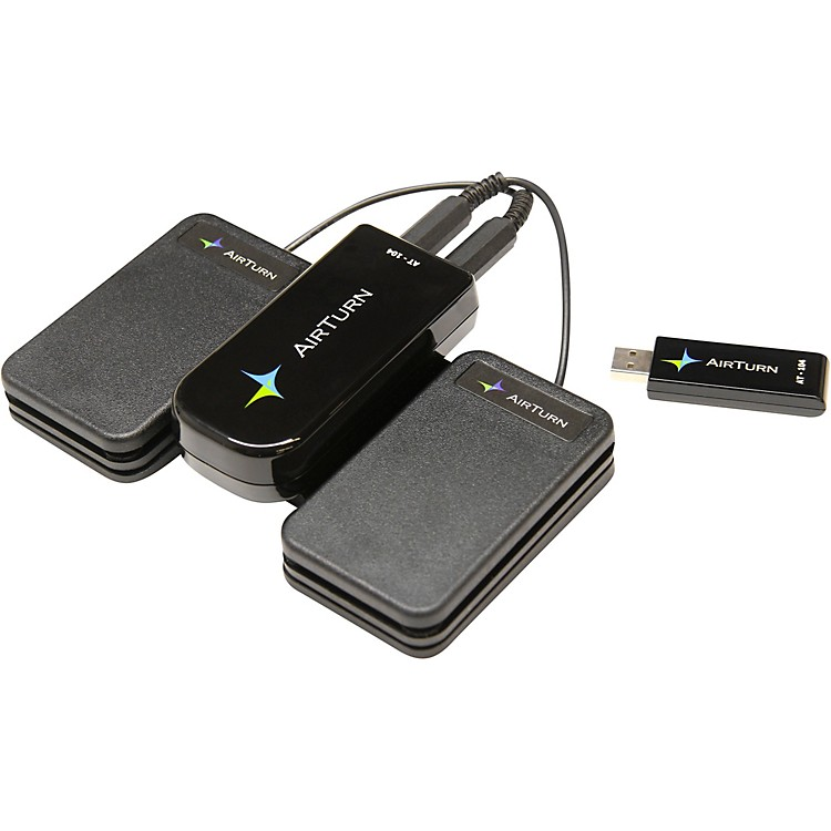 AirTurnAT-104 USB Page Turner + 2 ATFS-2 pedals with MusicReader PDF 4 Software888365840789