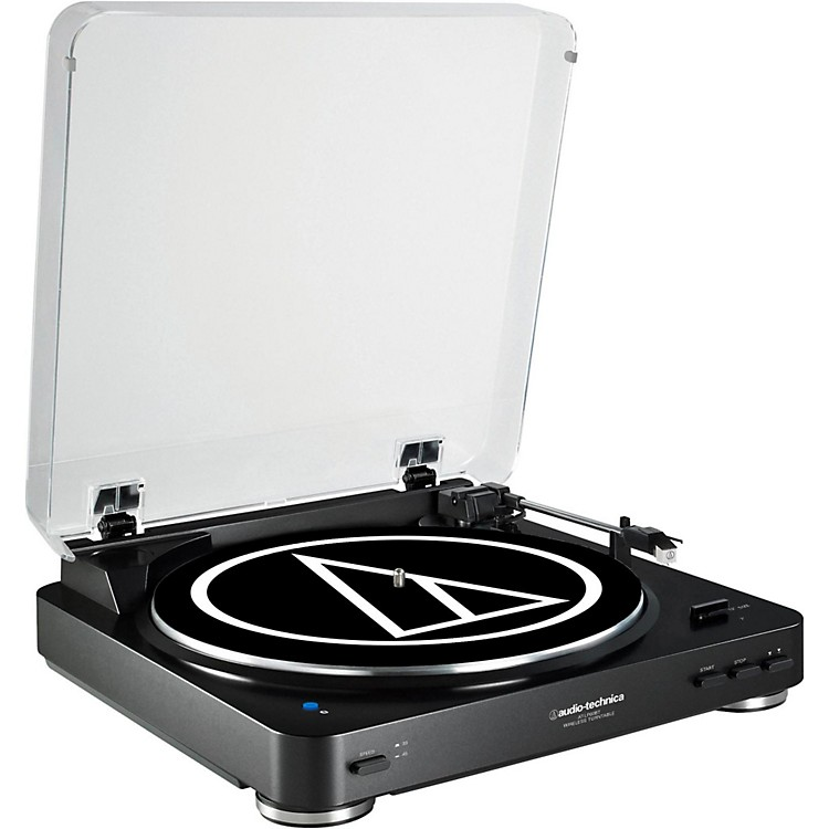 Audio-Technica AT-LP60BK-BT Fully Automatic Wireless Belt-Drive Stereo Record Player  888365827179
