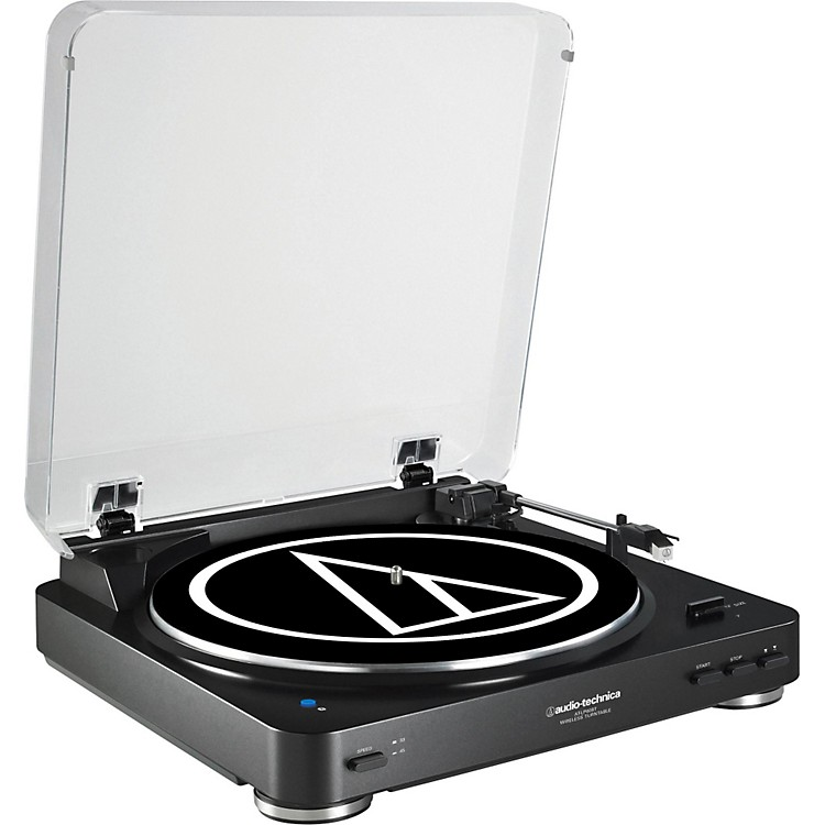 Audio-Technica AT-LP60BK Fully Automatic Belt-Drive Stereo Record Player Black