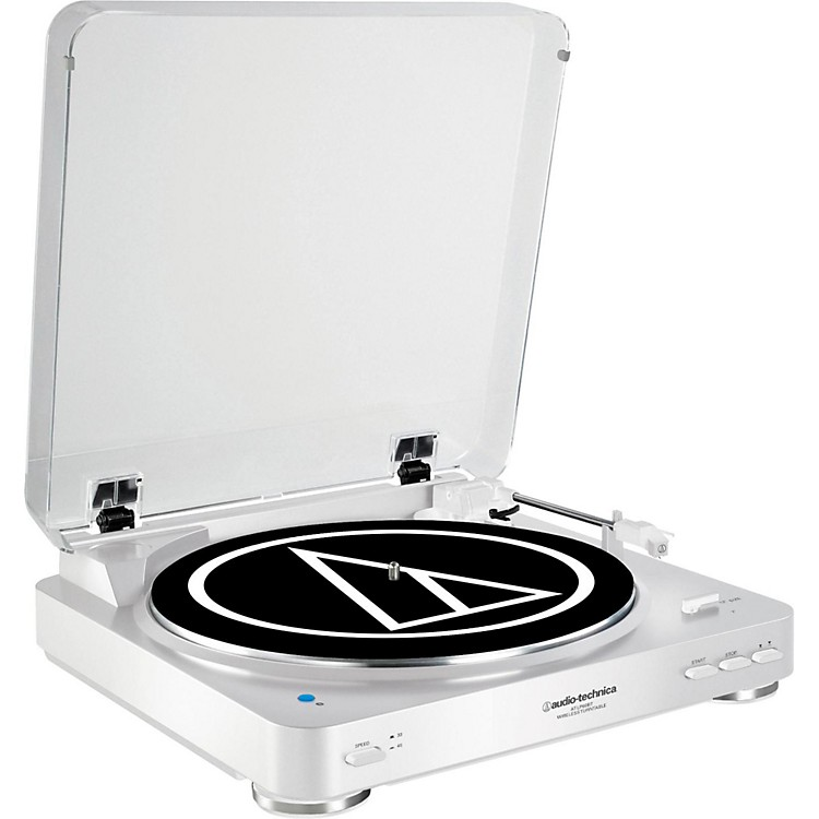 Audio-TechnicaAT-LP60WH-BT Fully Automatic Wireless Belt-Drive Stereo Record PlayerWhite