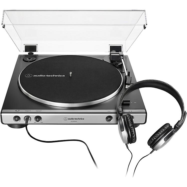 Audio-TechnicaAT-LP60XHP Package with AP-LP60X Turntable and HeadphonesGunmetal