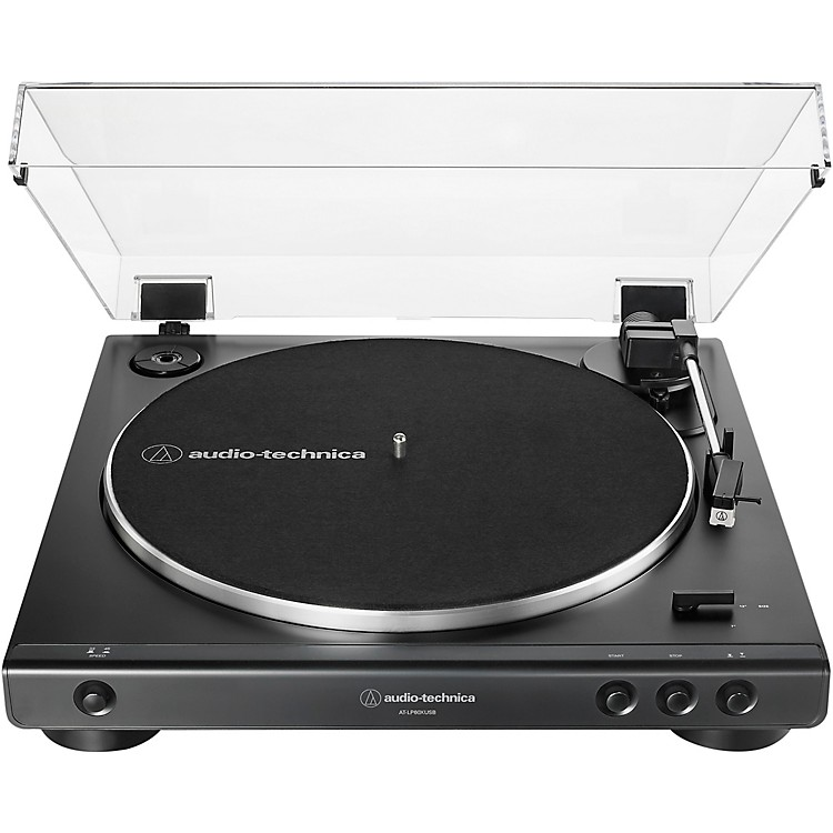 Audio-Technica AT-LP60XUSB Fully Automatic Belt-Drive Stereo Turntable with USB Output Black
