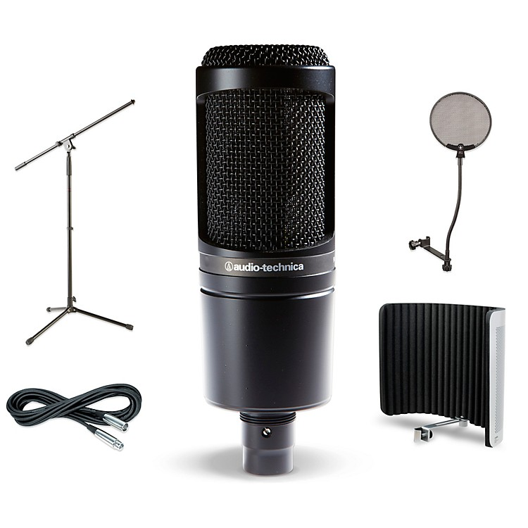 audio technica at2020 vs1 stand pop filter and cable kit music123. Black Bedroom Furniture Sets. Home Design Ideas