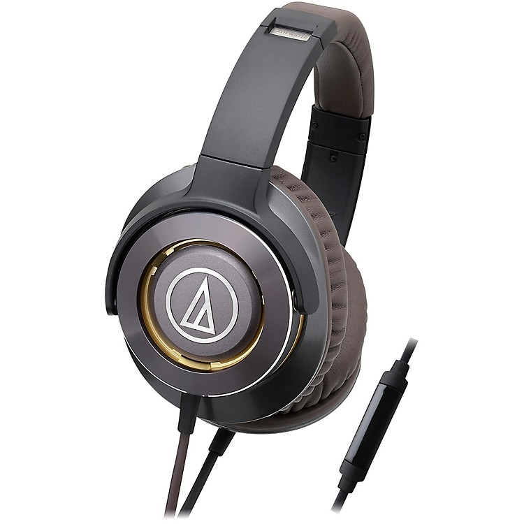 Audio-Technica ATH-WS770IS Solid Bass Over-Ear Headphones with In-line Mic & Control Gun Metal