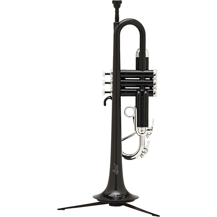 Allora ATR-1301M Aere Metallic Series Plastic Bb Trumpet Metallic Black - Silver Trim