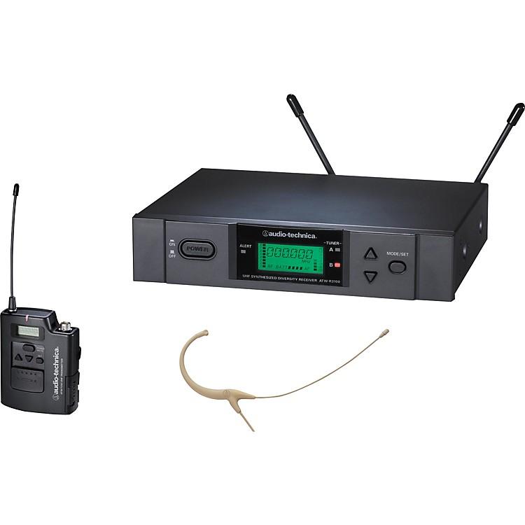 Audio-TechnicaATW-3192b 3000 Series Headworn Condenser Microphone Wireless SystemBand CBeige