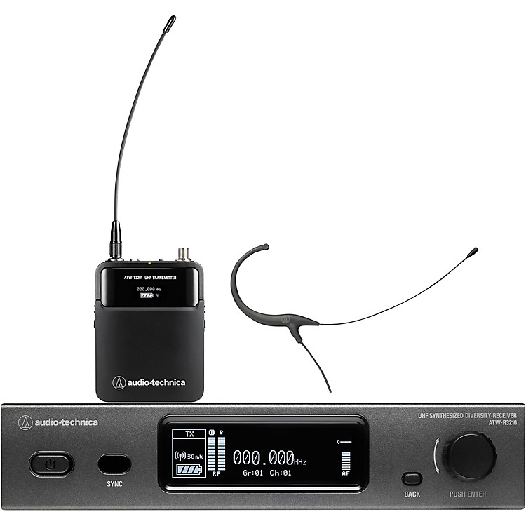 Audio-Technica ATW-3211/892 3000 Series (Fourth Generation) Frequency-agile True Diversity UHF Wireless Systems Band DE2