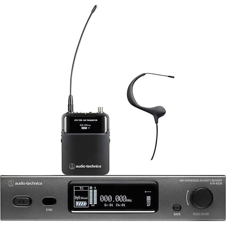 Audio-Technica ATW-3211/893 3000 Series Frequency-agile True Diversity UHF Wireless Systems Band EE1