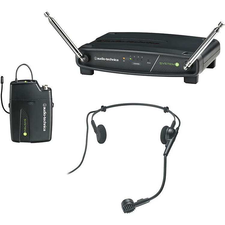 Audio-Technica ATW-901/H System 9 VHF Wireless Headset Microphone System 169.505 to 171.905 MHz