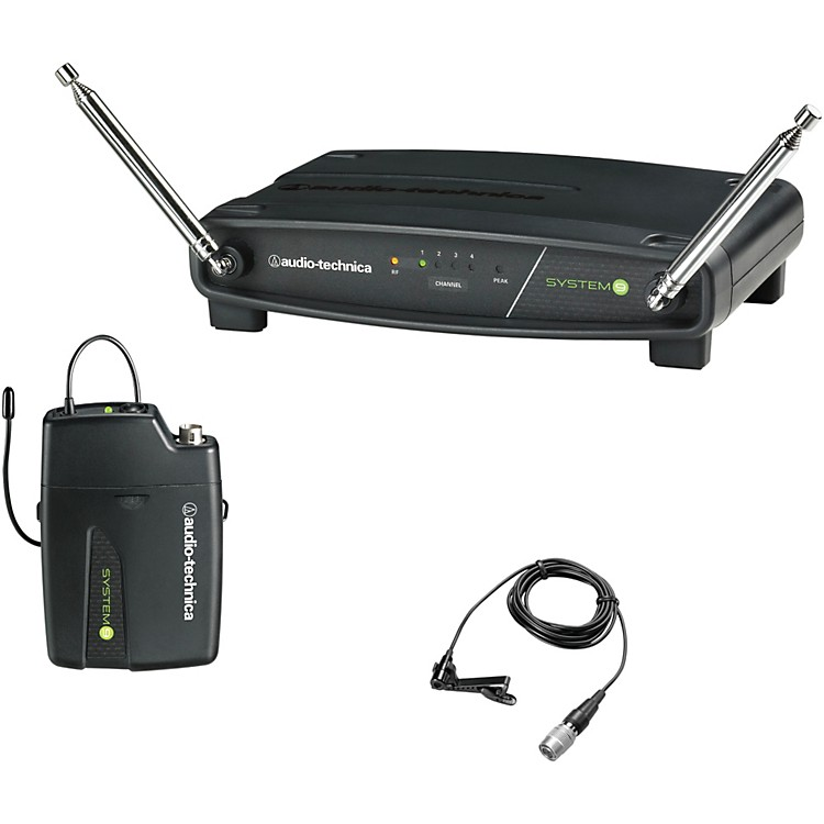 Audio-Technica ATW-901/L System 9 VHF Wireless Lavalier Microphone System 169.505 to 171.905 MHz