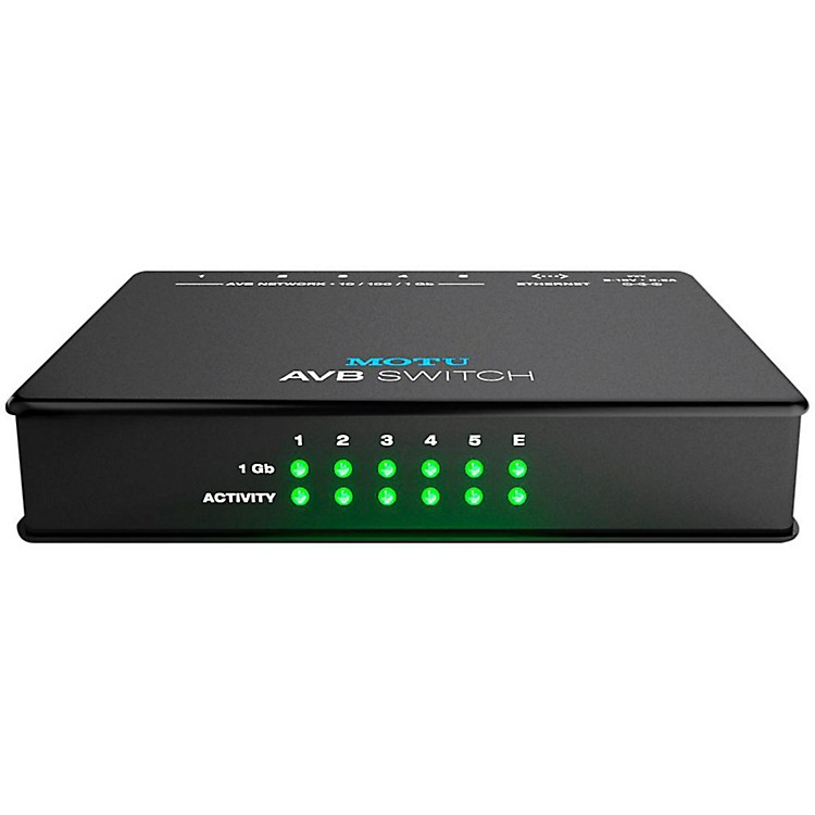 MOTU AVB Switch Five-Port AVB Ethernet Switch