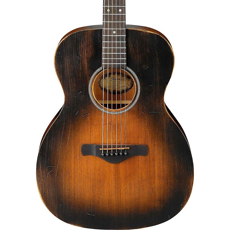 IbanezAVC6 Artwood Vintage Distressed Grand Concert Acoustic GuitarTobacco Sunburst