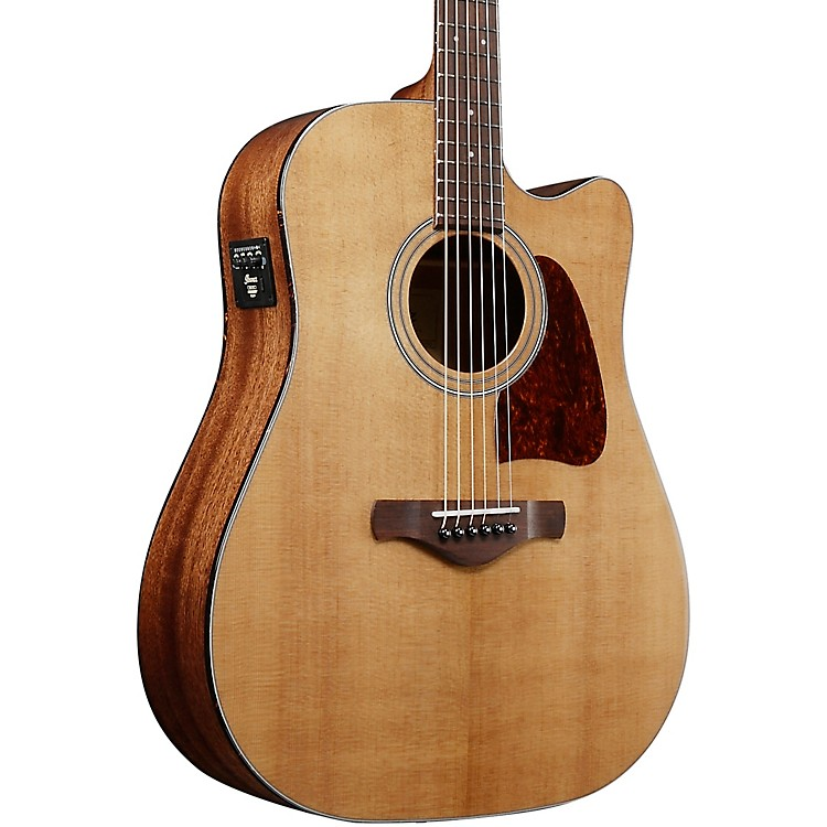 IbanezAVD9EVNT Artwood Vintage Thermo Aged Series Acoustic-Electric Dreadnought GuitarGloss Natural