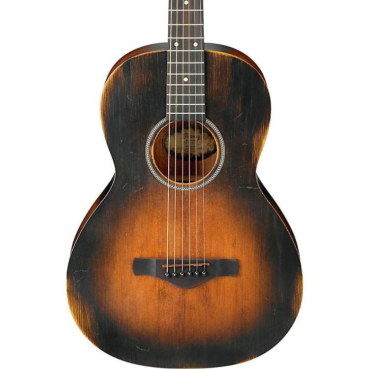 IbanezAVN6 Artwood Vintage Distressed Parlor Acoustic GuitarTobacco Sunburst