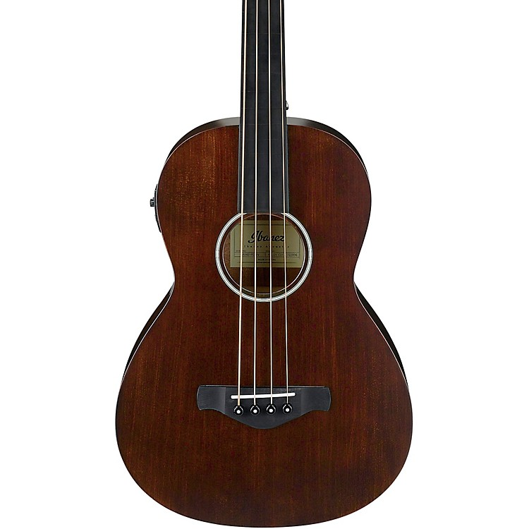 Ibanez AVNB1FE Artwood Vintage Parlor Solid-Top Acoustic-Electric Bass Open Pore Natural
